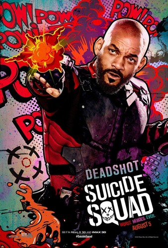 Suicide Squad wallpaper containing animê entitled Suicide Squad Character Poster - Deadshot