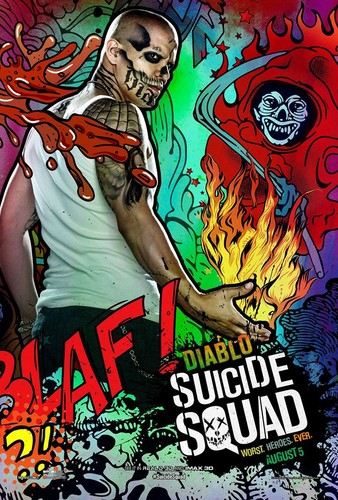 Suicide Squad wallpaper with Anime entitled Suicide Squad Character Poster - Diablo