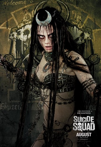 Suicide Squad 바탕화면 probably containing 아니메 called Suicide Squad Character Poster - Enchantress