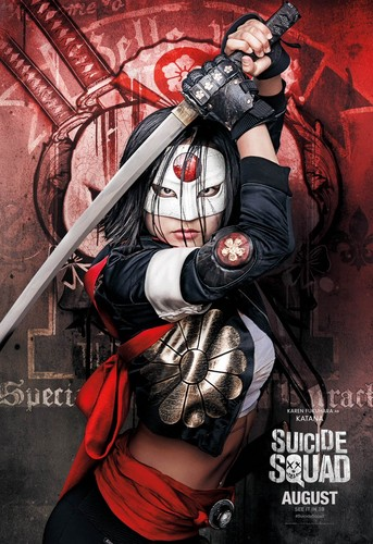 Suicide Squad wallpaper containing animê entitled Suicide Squad Character Poster - Katana