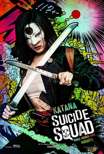 Suicide Squad 바탕화면 containing 아니메 entitled Suicide Squad Character Poster - Katana
