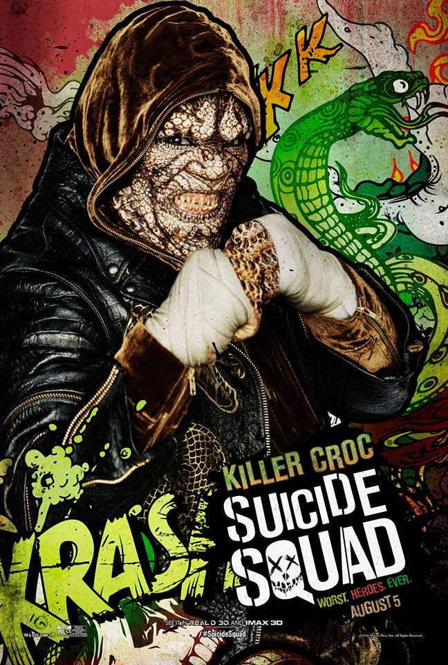 Suicide Squad Character Poster - Killer Croc