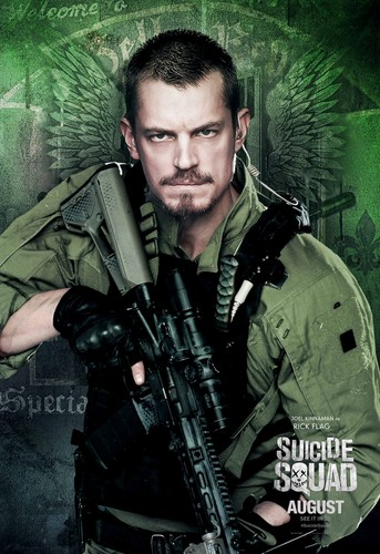 Suicide Squad wallpaper containing a rifleman, a green beret, and fatigues titled Suicide Squad Character Poster - Rick Flag