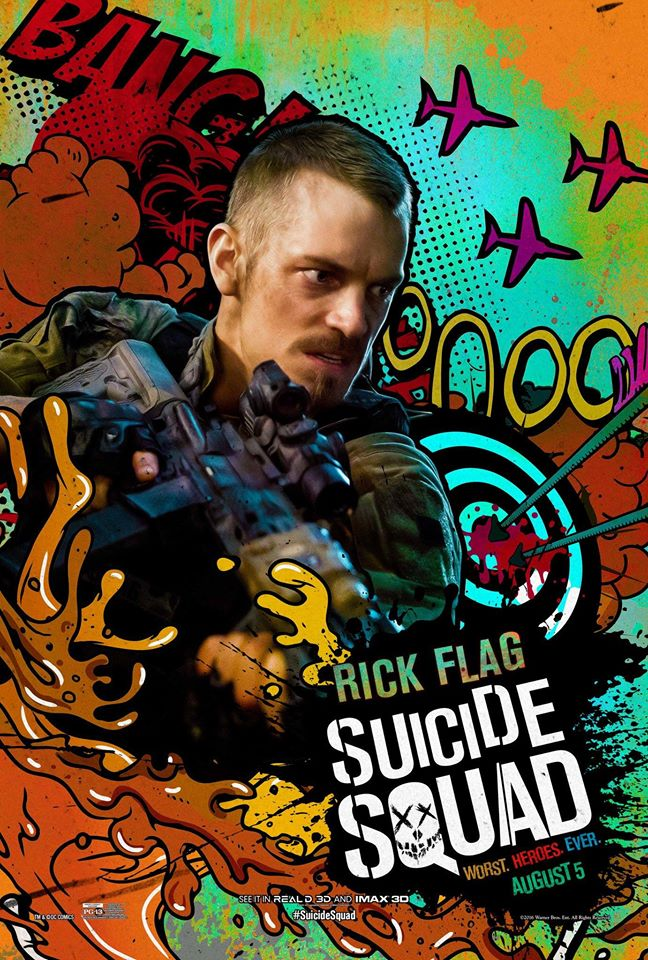 Suicide Squad Character Poster - Rick Flag