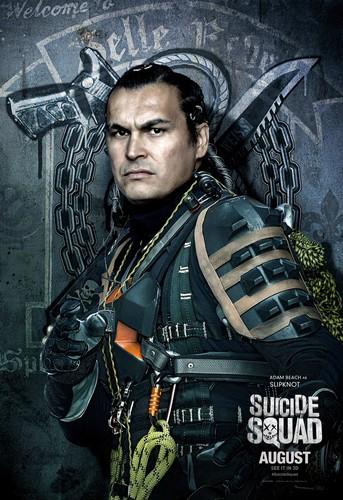 Suicide Squad karatasi la kupamba ukuta possibly with a rifleman, a green beret, and a navy muhuri entitled Suicide Squad Character Poster - Slipknot