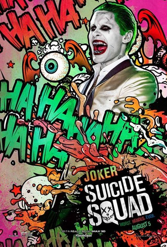 Suicide Squad wallpaper containing anime entitled Suicide Squad Character Poster - The Joker