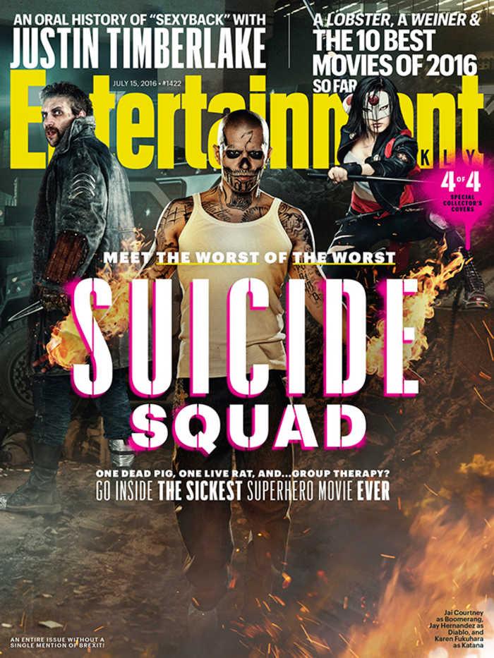 Suicide Squad - Entertainment Weekly Cover - July 15, 2016 - Boomerang, Diablo, Katana