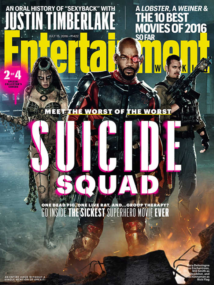 Suicide Squad - Entertainment Weekly Cover - July 15, 2016 - Enchantress, Deadshot, Rick Flag