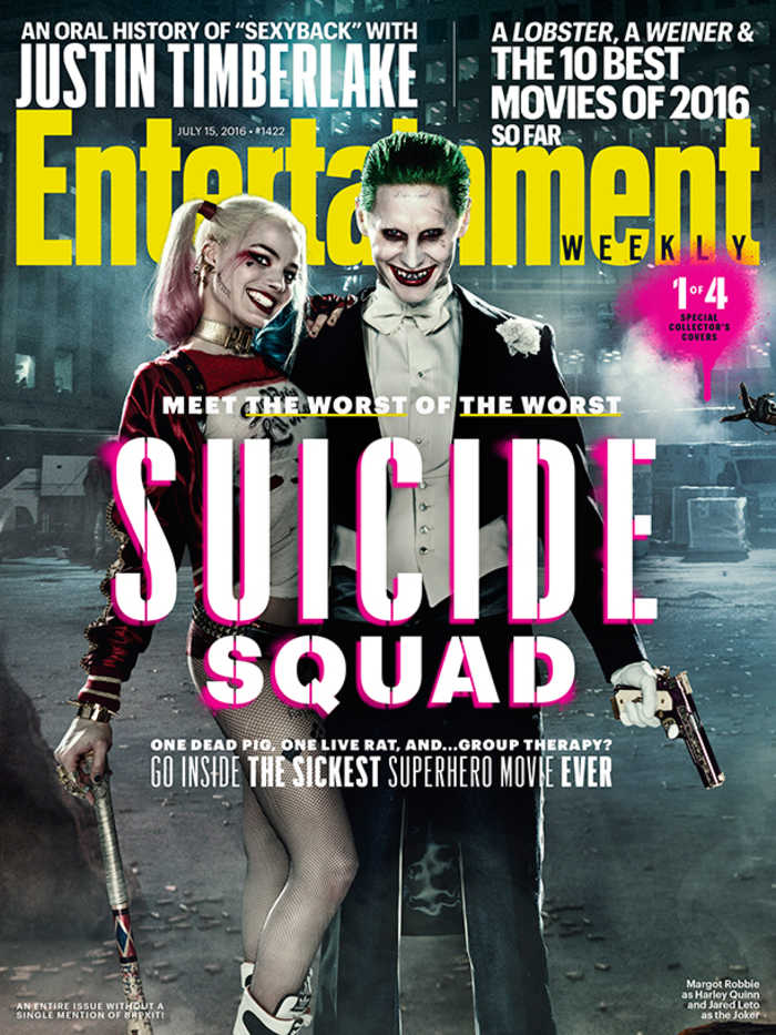 Suicide Squad - Entertainment Weekly Cover - July 15, 2016 - Harley and The Joker