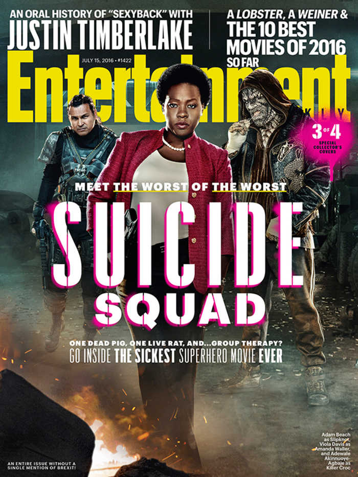 Suicide Squad - Entertainment Weekly Cover - July 15, 2016 - Slipknot, Amanda Waller, Killer Croc