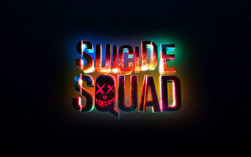 Suicide Squad wallpaper probably containing a sign entitled Suicide Squad Logo wallpaper