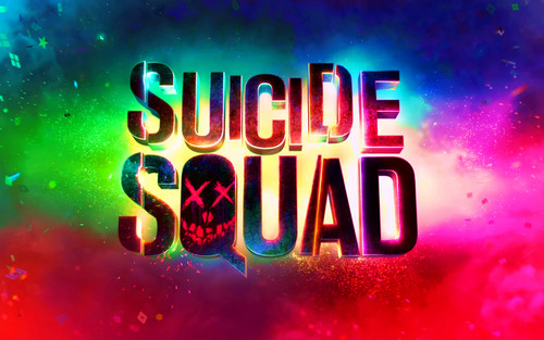 Suicide Squad wallpaper probably containing a street titled Suicide Squad Logo Wallpaper