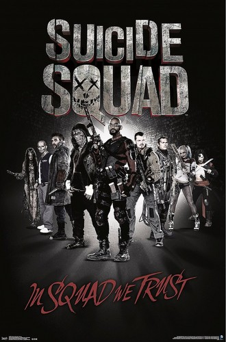 Suicide Squad wallpaper with anime entitled Suicide Squad Poster - In Squad We Trust
