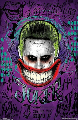 Suicide Squad wolpeyper probably with a red cabbage entitled Suicide Squad Poster - Joker