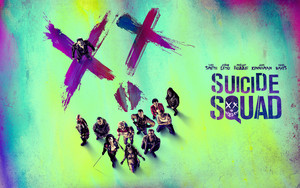 Suicide Squad Poster Обои