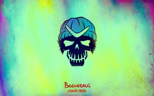 Suicide Squad Skull achtergrond - Boomerang