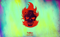 Suicide Squad Skull karatasi la kupamba ukuta - Diablo