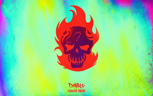 Suicide Squad Skull fond d'écran - Diablo