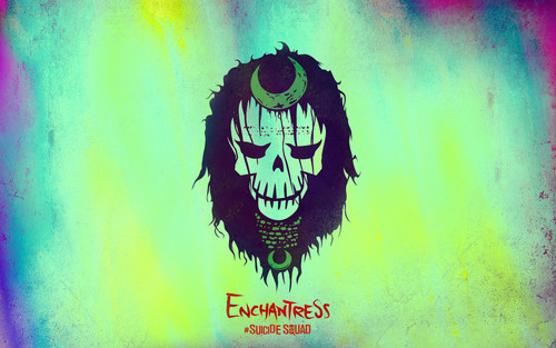 Suicide Squad wallpaper probably containing a sign called Suicide Squad Skull Wallpaper - Enchantress