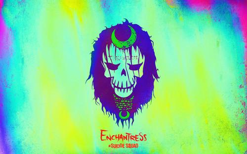 Suicide Squad fondo de pantalla entitled Suicide Squad Skull fondo de pantalla - Enchantress
