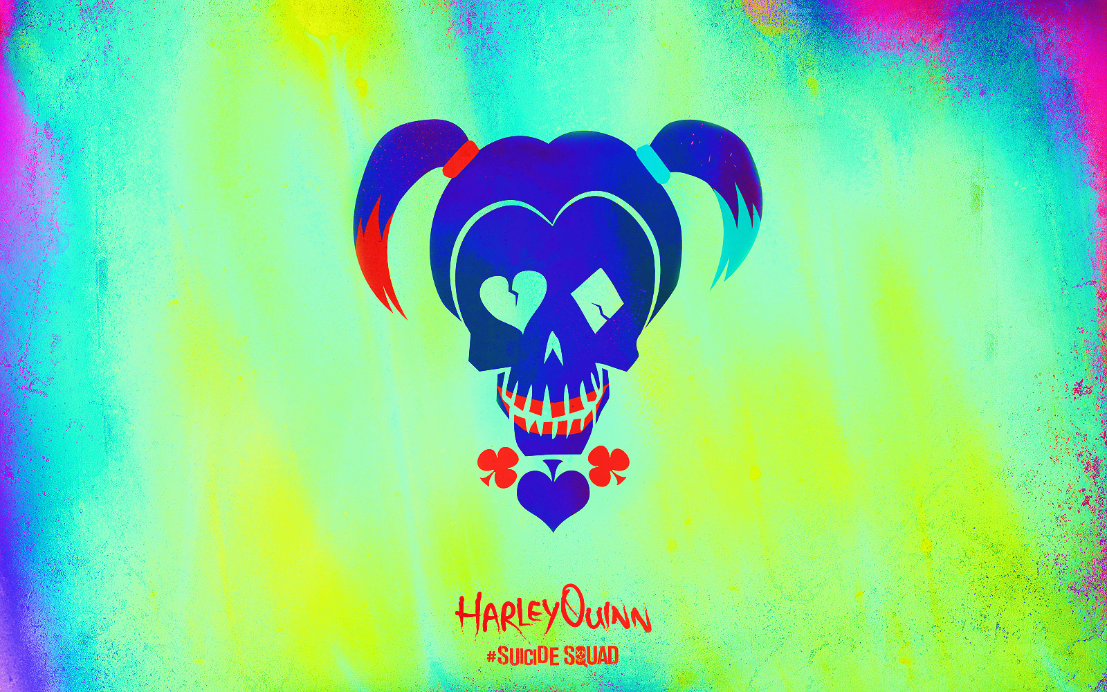 Suicide Squad Skull Обои - Harley Quinn