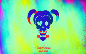 Suicide Squad Skull پیپر وال - Harley Quinn