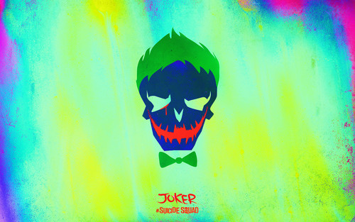 Suicide Squad fondo de pantalla possibly containing a sign called Suicide Squad Skull fondo de pantalla - Joker