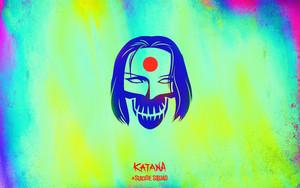 Suicide Squad Skull Обои - Katana