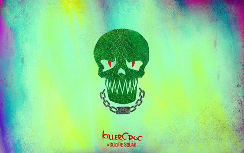 Suicide Squad fondo de pantalla possibly with a sign called Suicide Squad Skull fondo de pantalla - Killer Croc