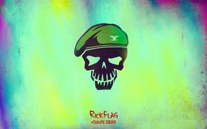 Suicide Squad Skull fond d'écran - Rick Flag