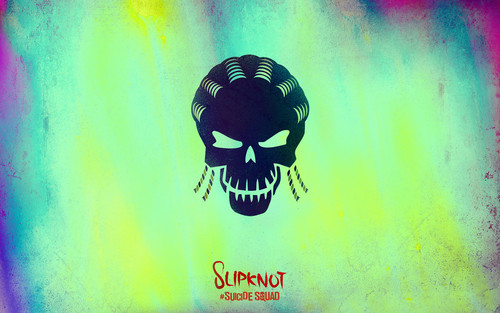 Suicide Squad fondo de pantalla possibly containing a sign entitled Suicide Squad Skull fondo de pantalla - Slipknot