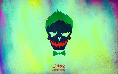 Suicide Squad wallpaper probably containing a sign entitled Suicide Squad Skull Wallpaper - The Joker