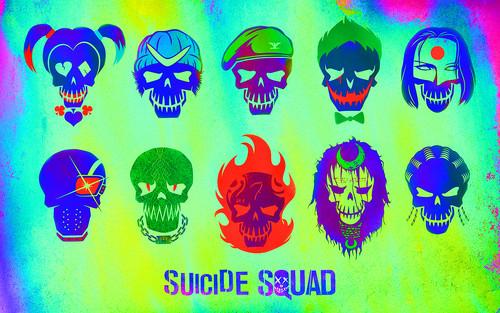 Suicide Squad 壁纸 entitled Suicide Squad Skull 壁纸