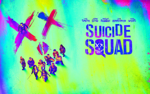 Suicide Squad 壁纸 possibly containing a sign titled Suicide Squad - Smile 壁纸