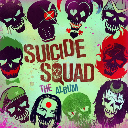 Suicide Squad karatasi la kupamba ukuta possibly containing anime called Suicide Squad: The Album Cover