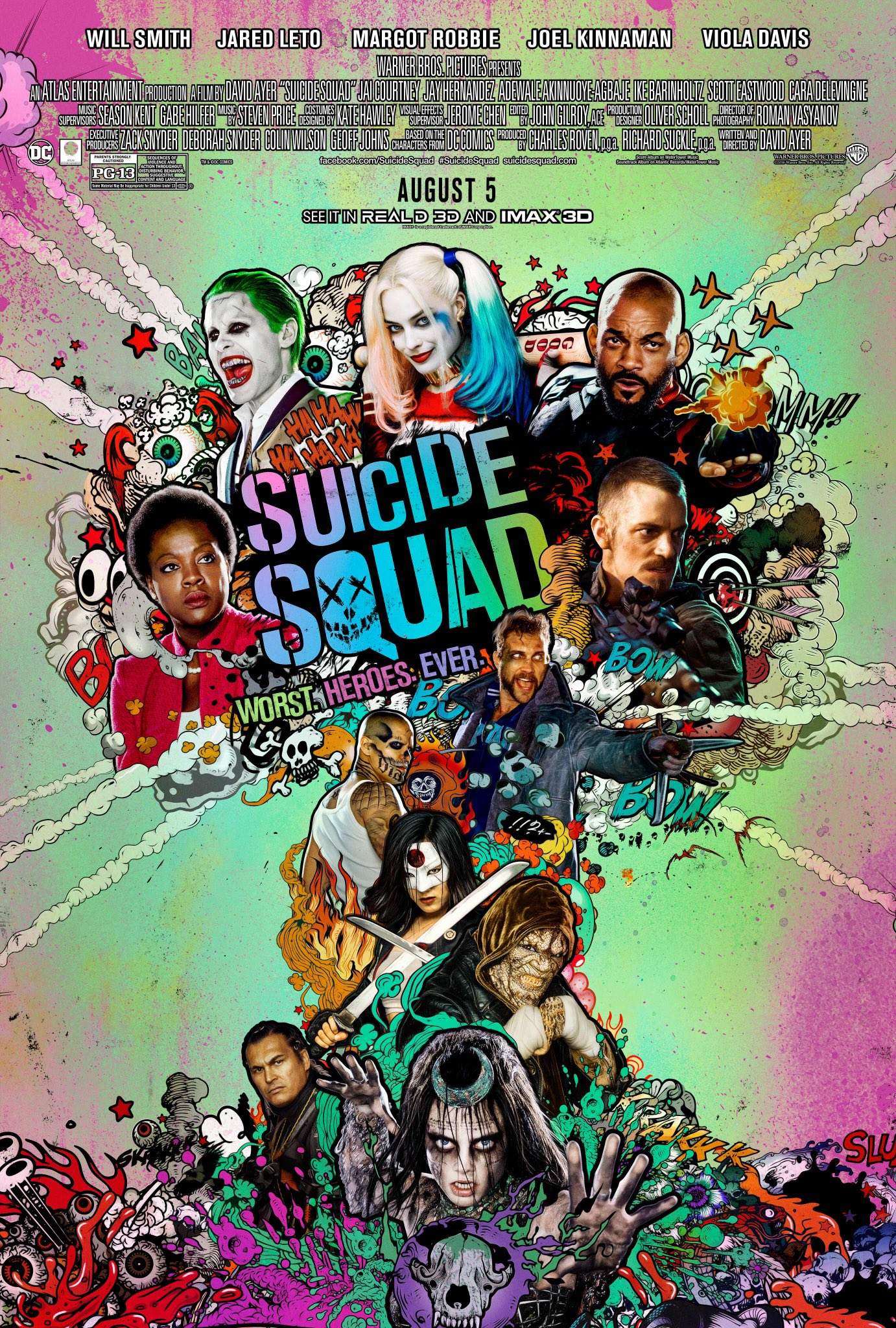 Suicide Squad - Worst. Heroes. Ever. - Poster