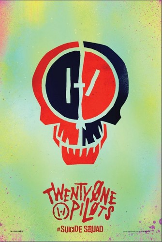Suicide Squad 바탕화면 entitled Suicide Squad: twenty one pilots Poster