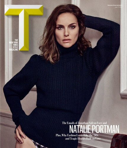 natalie portman wallpaper possibly containing a pullover entitled T: The NYTimes Style Magazine (July 17th 2016)