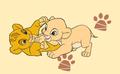 TLK baby simba and nala - nala fan art