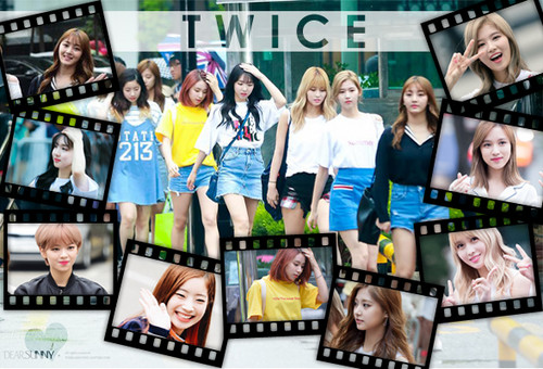 Twice (JYP Ent) वॉलपेपर possibly with a sign entitled TWICE