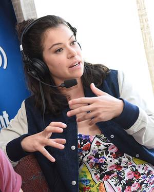 Tatiana Maslany at SiriusXM s Entertainment Weekly Radio Channel Broadcast