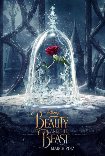 Beauty and the Beast (2017) Обои probably with a sign titled Teaser poster of 'Beauty and the Beast'