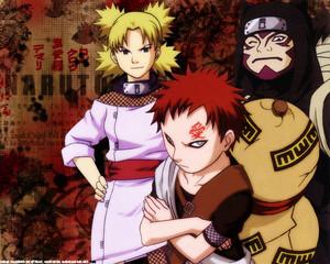 Temari,Kankuro and Gaara sand Siblings
