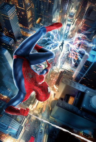 Spider-Man wallpaper with a triceratops called The Amazing aranha Man VS Electro