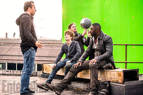 The Dark Tower Обои with a business suit and a hip boot titled The Dark Tower - Behind the Scenes