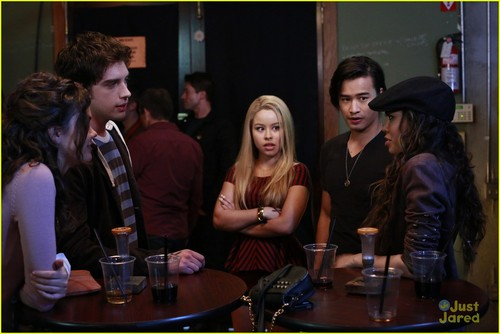 Jordan Rodrigues wallpaper probably with a brasserie, a dinner table, and a business suit titled The Fosters 2x02 Stills