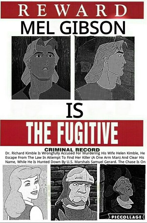 The Fugitive Poster Disney Style