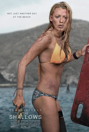 The Shallows वॉलपेपर with a bikini entitled The Shallows Blake Lively Poster