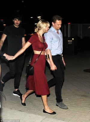 Tom and Taylor leaving Selena Gomez's concert 6/21