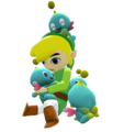 Toon Link playing with Chao - the-legend-of-zelda photo